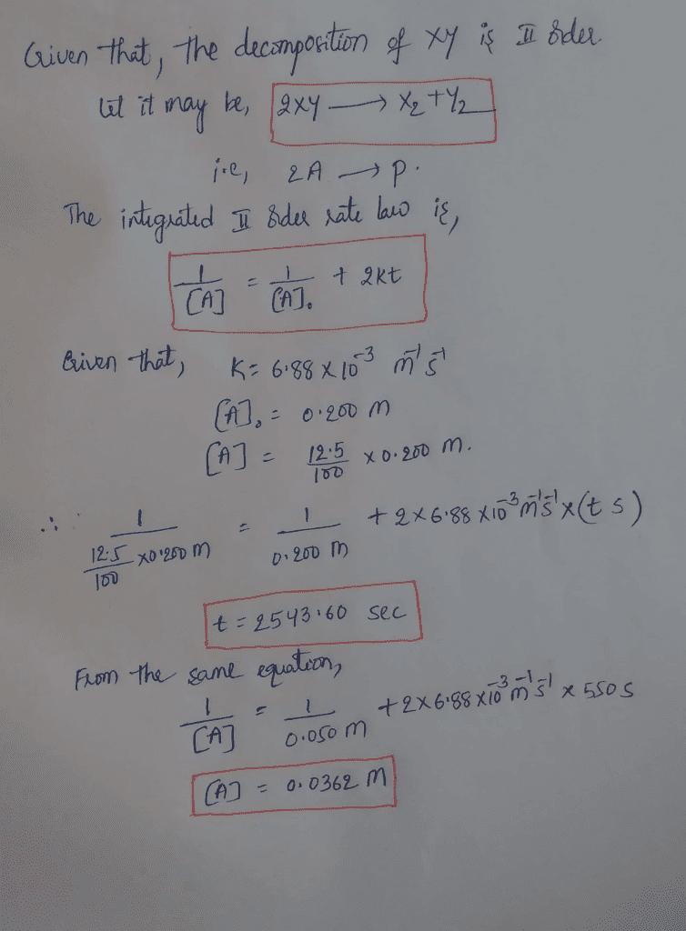 Rate Constant Equation Second Order - Tessshebaylo