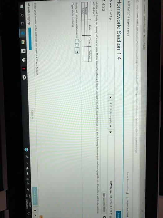 OneClass: 8 ht MST fall 2018 Algebra sec d Homework ...