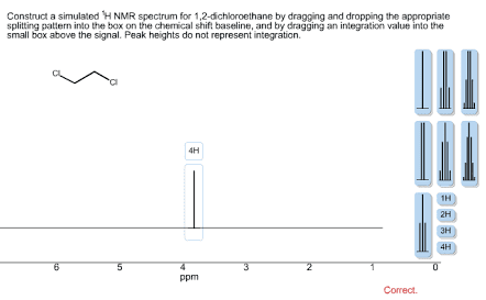 Oneclass Construct A Simulated 1h Nmr Spectrum For 1 2